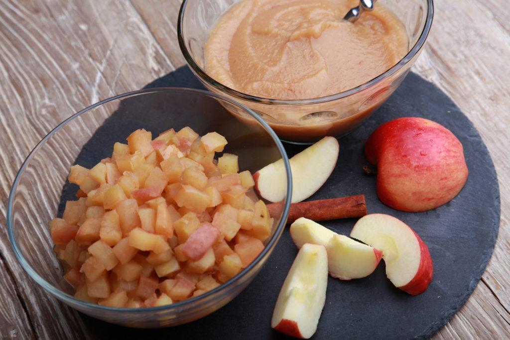 Apfelkompott und Apfelmus