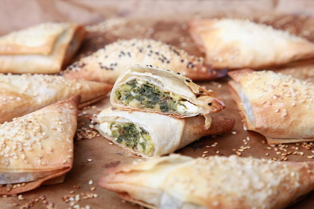 Börek mit Feta-und-Spinat-Füllung