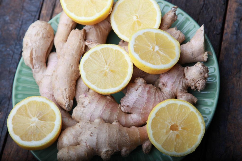 Gesundheitsdrink Ingwer und Zitrone
