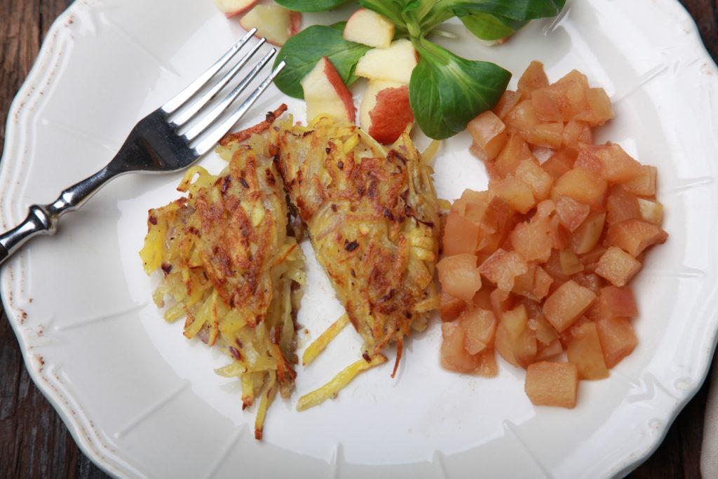 Kartoffelrösti mit Apfelmus